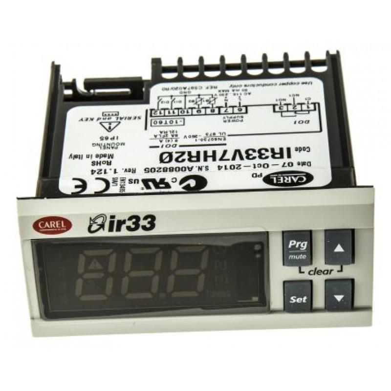 IR33V7HR20-  Controlador Universal com 2 Entradas (NTC/PTC/PT1000) + 1 saída a relé, 115 a 230V