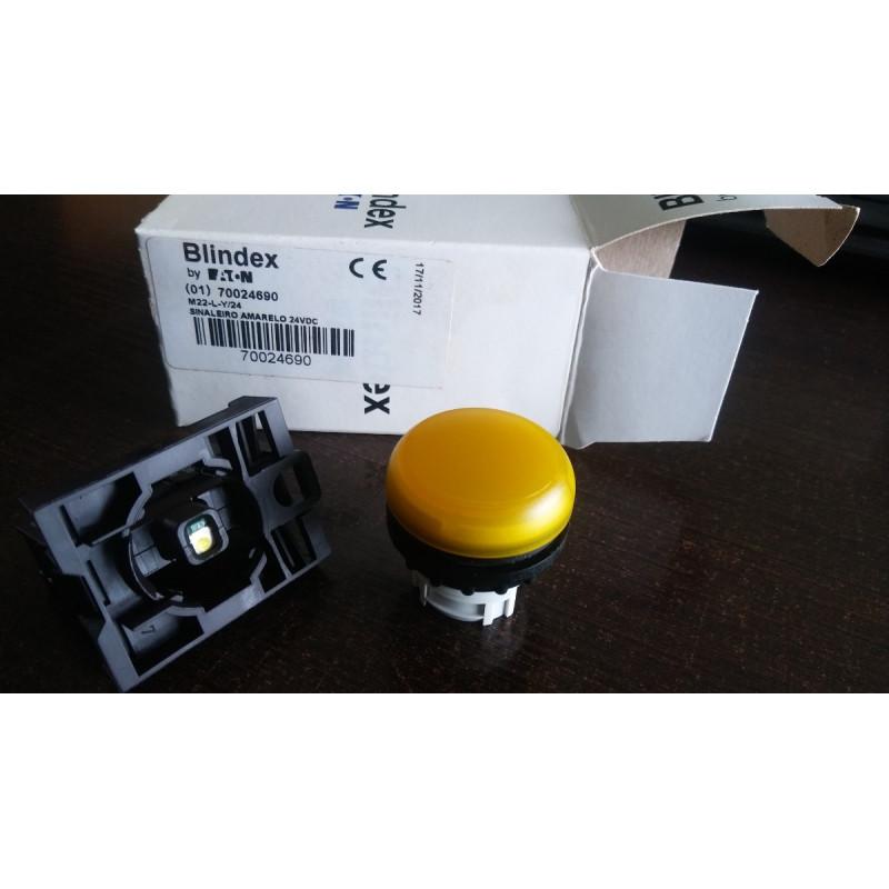 M22-L-Y/24 - SINALEIRO AMARELO 24VDC